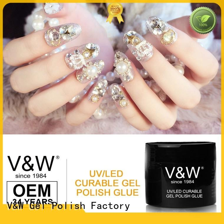 VW uvled uv gel nail colors mood changing for work