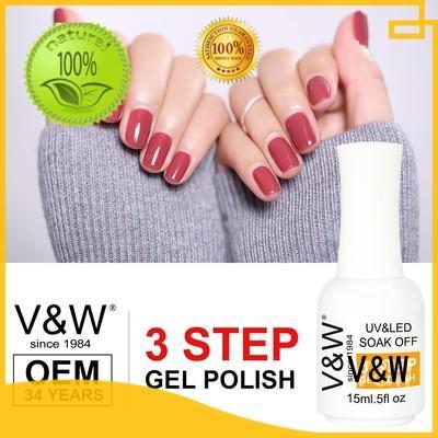 VW Brand clear velvet UV Gel Polish Wholesale protector supplier