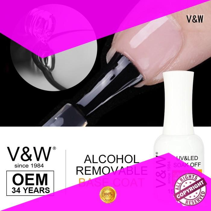VW glitter gel nail polish without uv lamp manufacturer for home