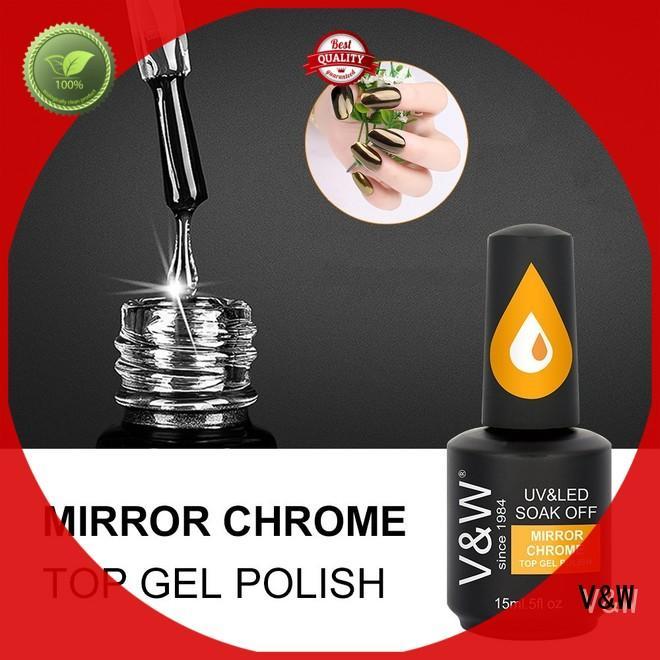 Mirror Chrome Glitter Pigment Top Gel Polish