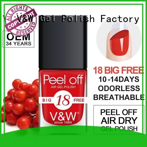 VW 2in1 best at home gel nail polish factory for evening party