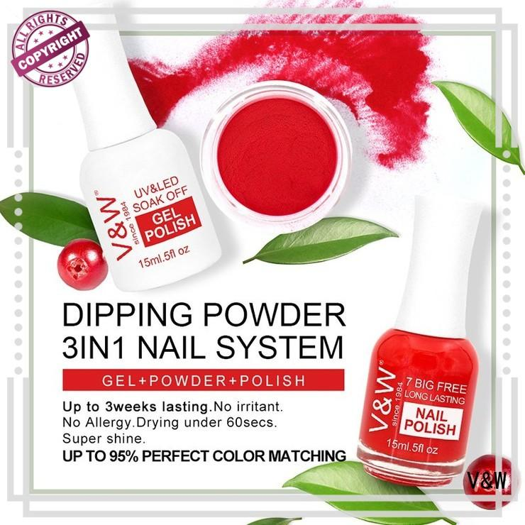 VW odorless dip powder manicure removal smoothly for party