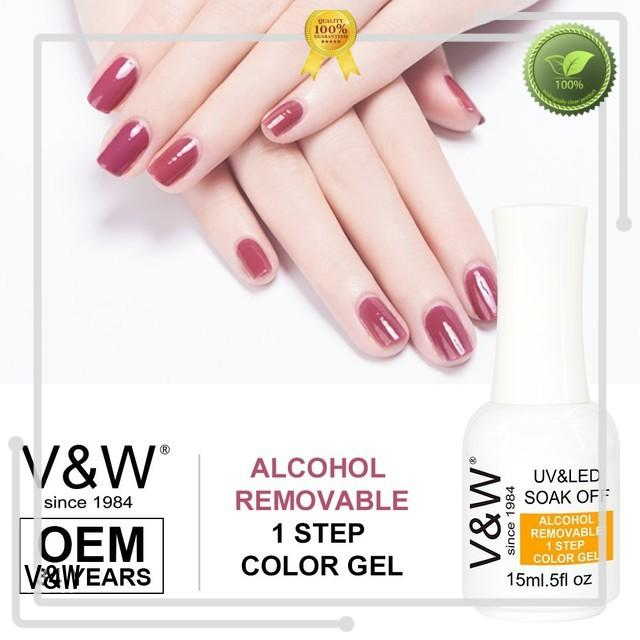 Alcohol Removable One Step Gel UV/LED Gel Nail Polish More Than 1000 Colors in Stock
