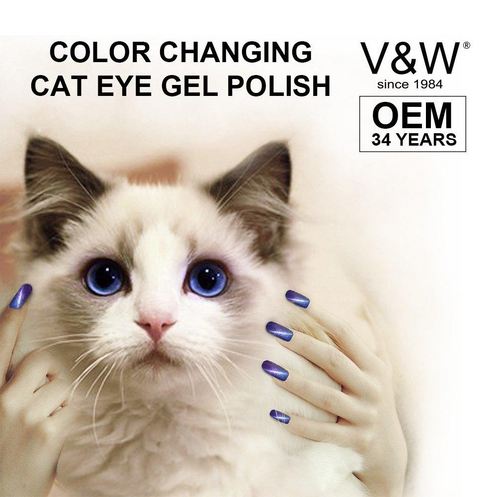 Color Changing Cat Eye Chameleon Soak Off UV LED Gel Nail Polish