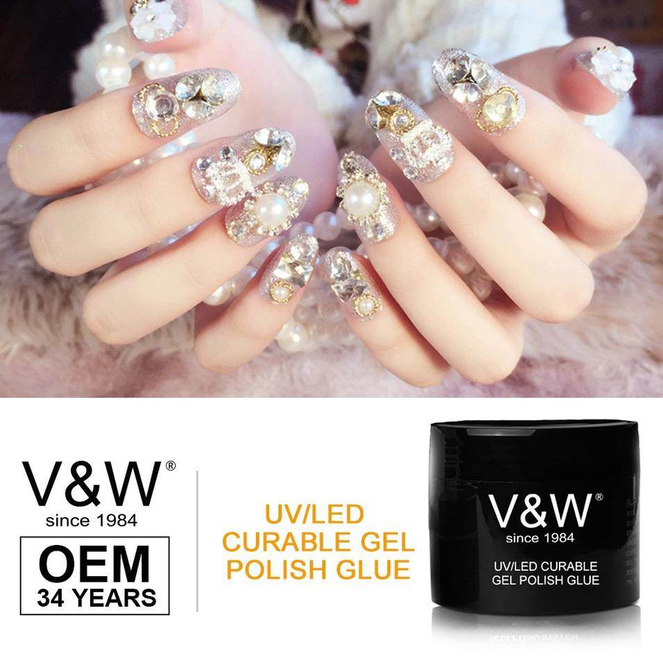 Uv/Led Curable Gel Polish Glue (For Nail Accessory)