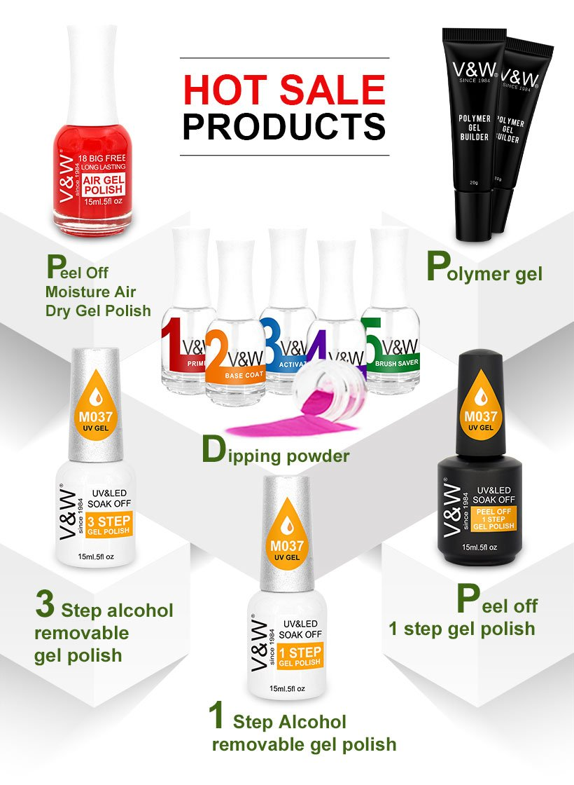 VW-Find Uvled Curable Gel Polish Glue for Nail Accessory Gel Polish Wholesale