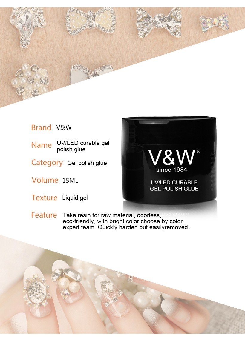 VW glitter clear nail polish bulk varnish for party-5