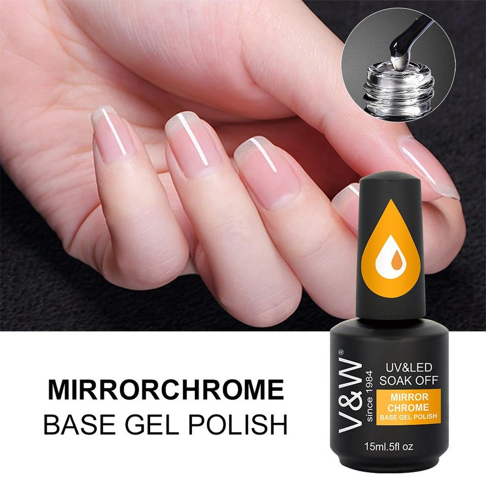 Mirror Chrome Glitter Pigment Base Gel Polish