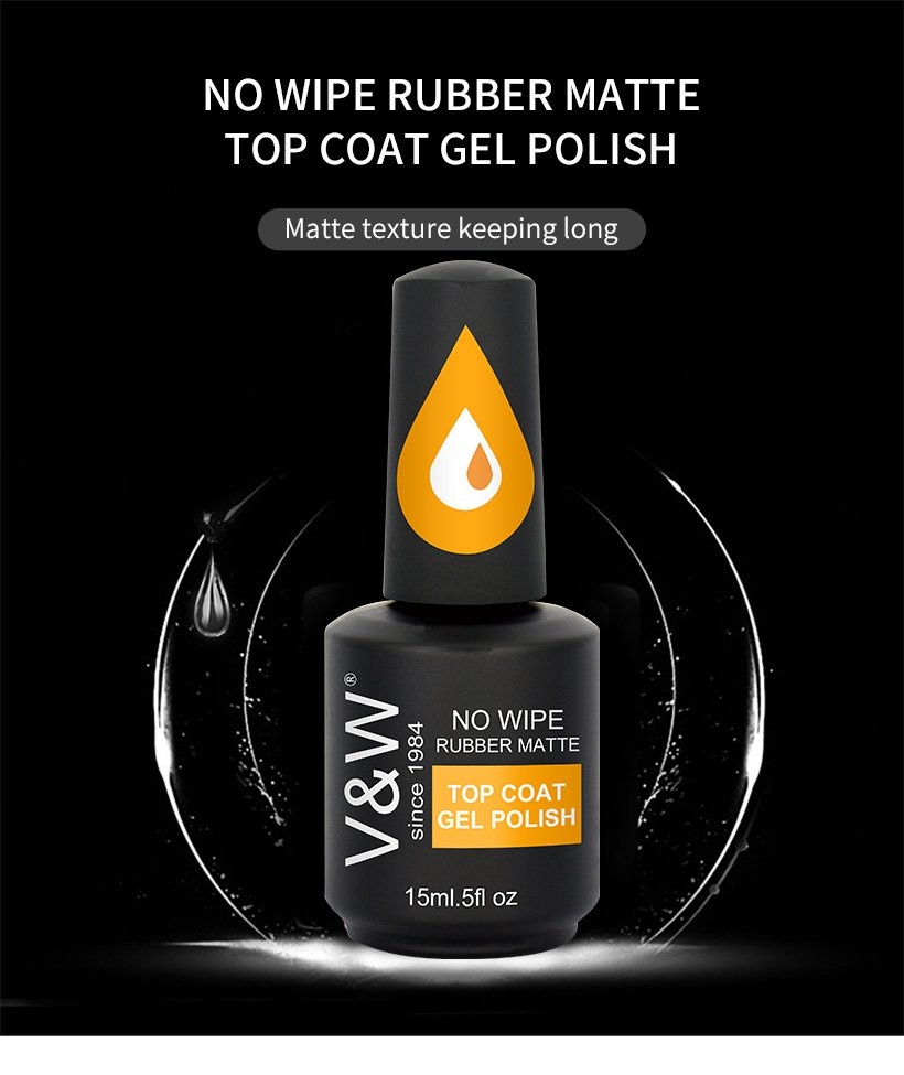 VW-Find No Wipe Rubber Matte Top Coat Gel Polish On Vw Gel Polish