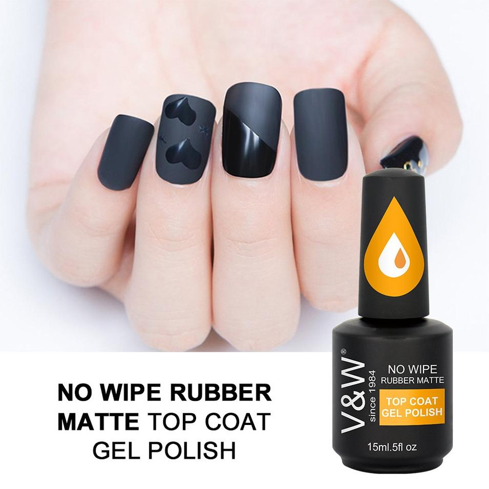 No Wipe  Rubber Matte Top Coat Gel Polish
