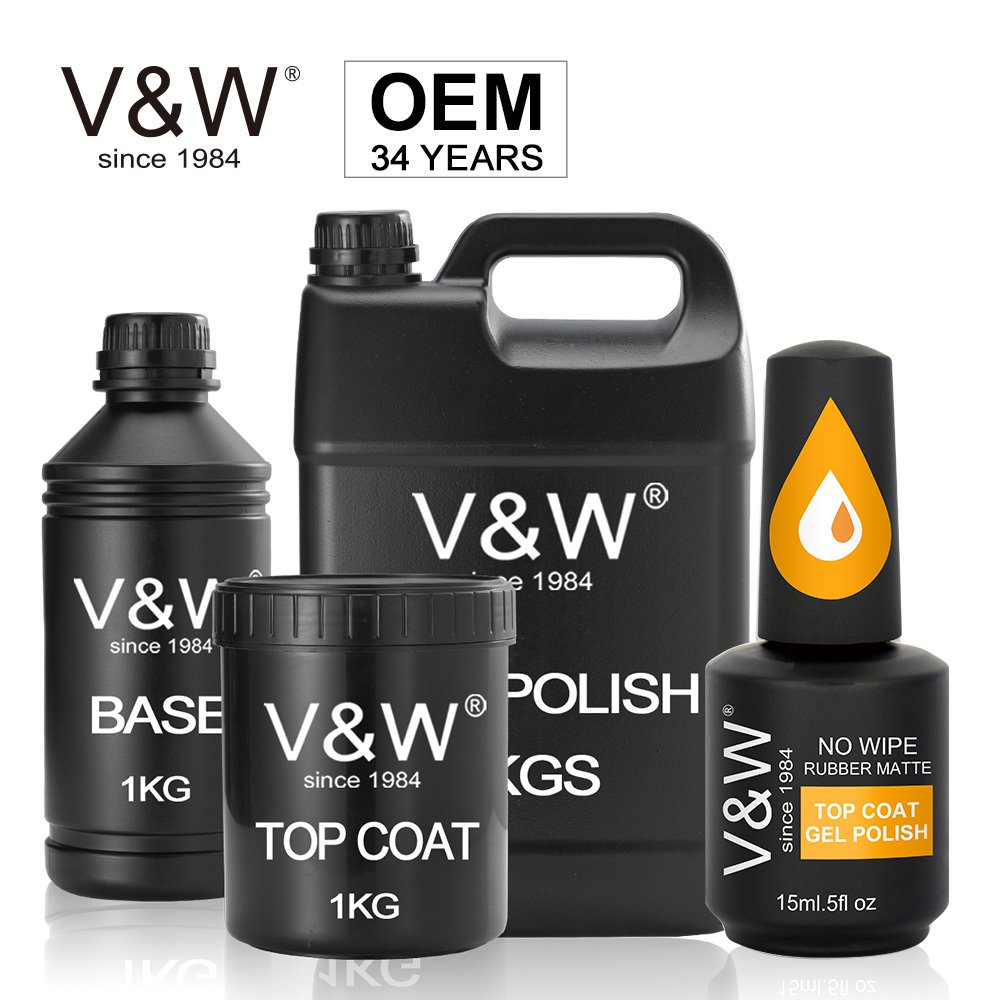 VW-No Wipe Rubber Matte Top Coat Gel Polish-1