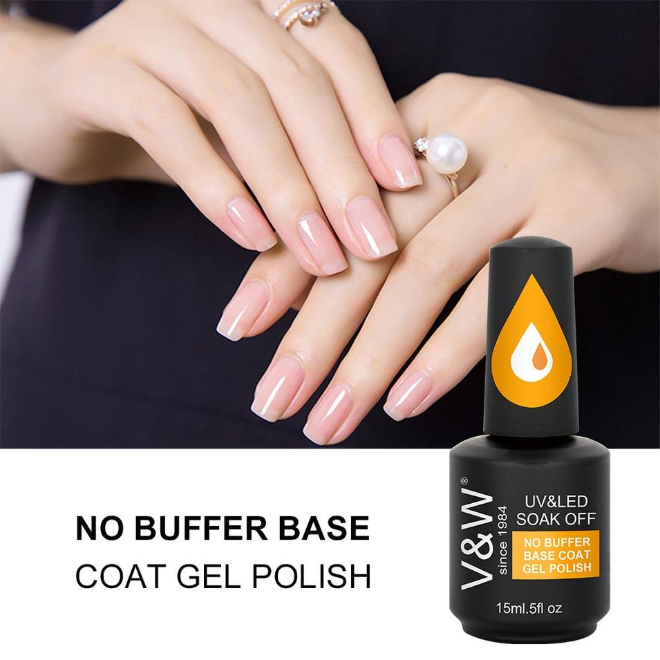 No Buffer Base Coat Gel Polish (Grow Gor Thin Nail)