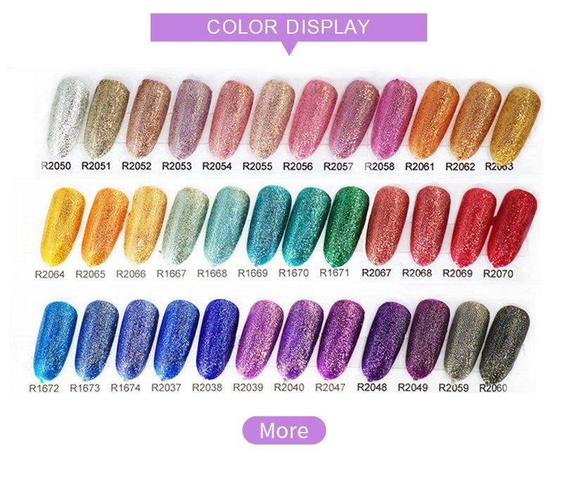 VW-Super Color Gel Paints Crystal Lacquer Nail Art Glitter Pearl Diamonds-5