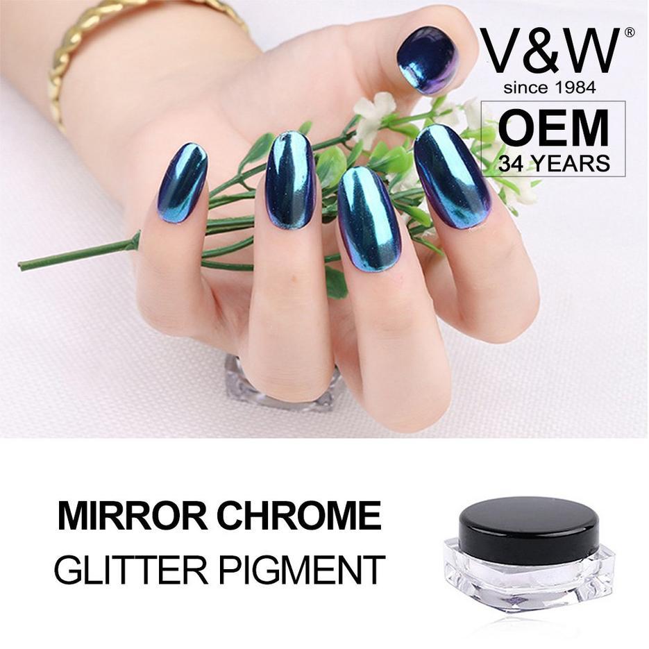 Mirror Chrome Glitter Pigment Peacock Glitters Nail Art mirror chrome glitters pigment