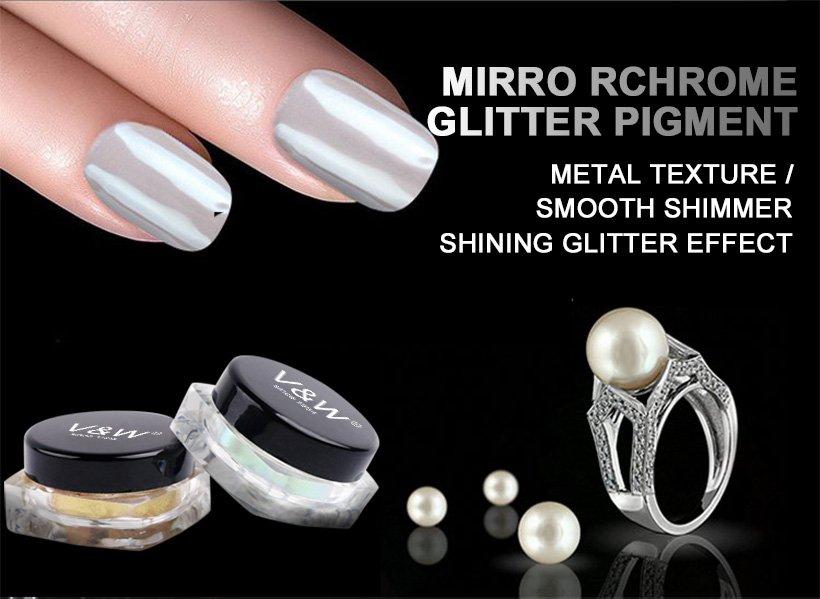 VW-Mirror Chrome Glitter Pigment | Gel Polish Wholesale | Uvled Gel Polish