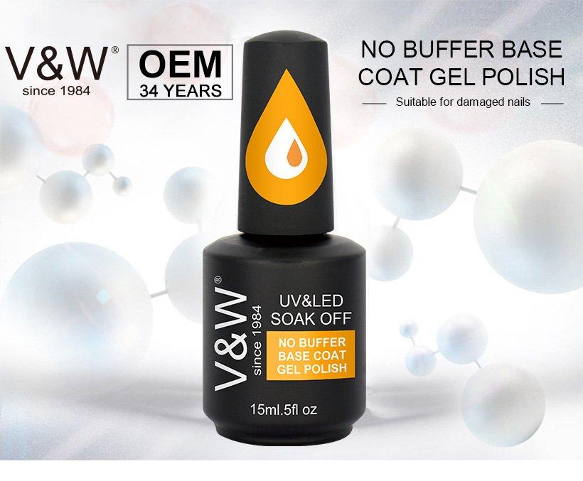 VW-Professional No Buffer Base Coat Gel Polish grow Gor Thin Nail Supplier