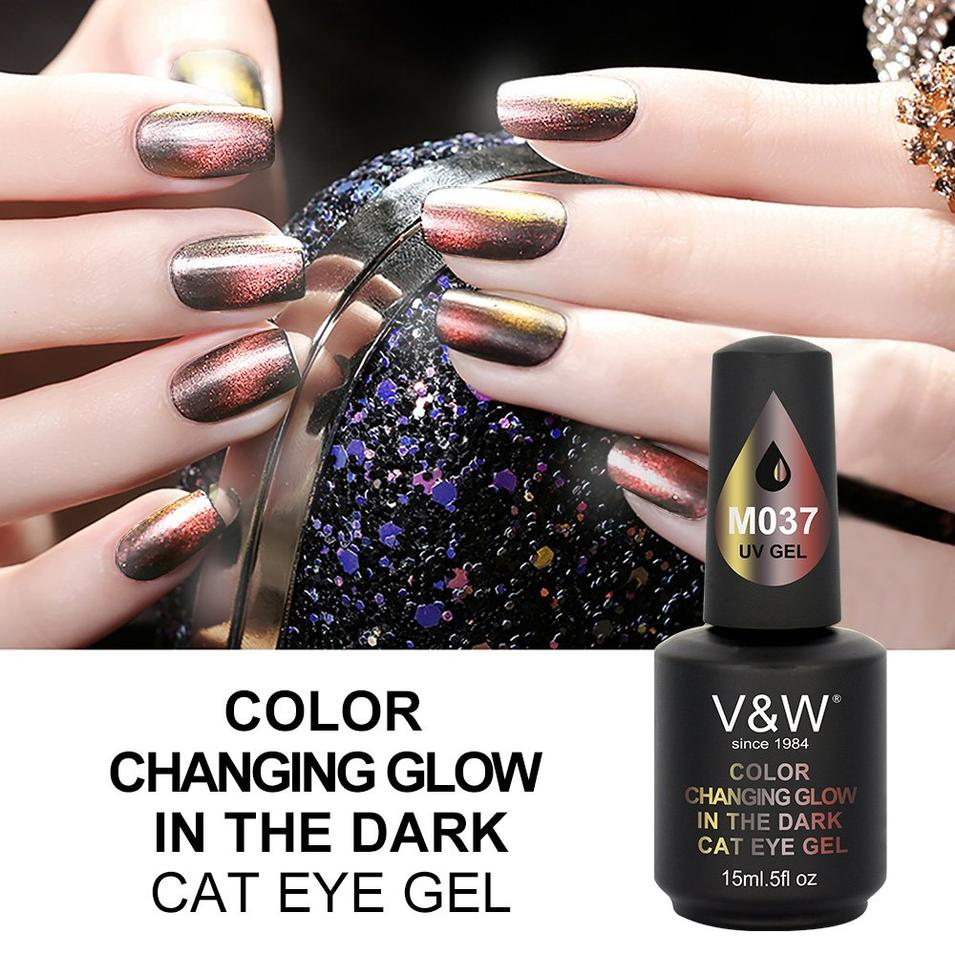 Color Changing Glow In The Dark Cat Eye Gel