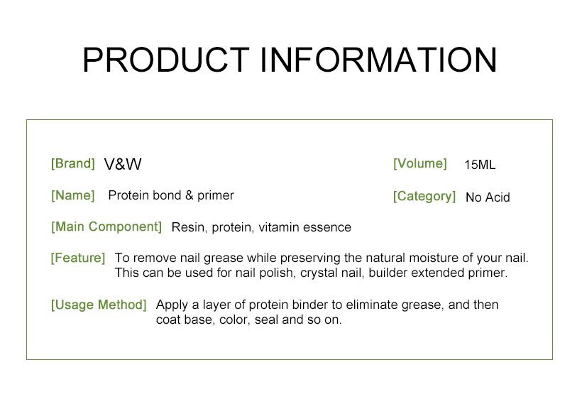 VW-Find Protein Bond Primer(for Uvled Gel, No Acid) Uv Gel Polish Wholesale-2