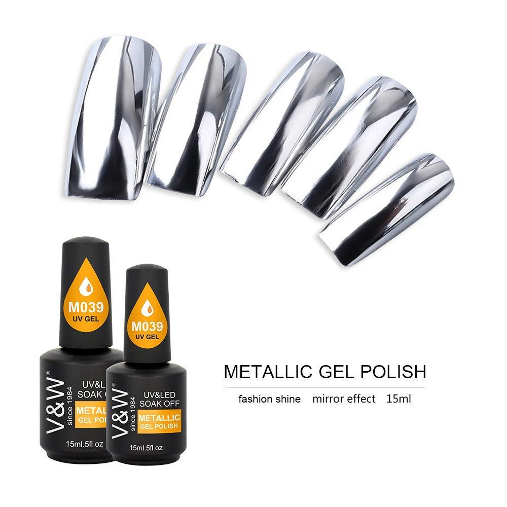 Nail Art Aluminum Foil Mirror Effect Metal Color Metallic Nail Platinum Gel Polish