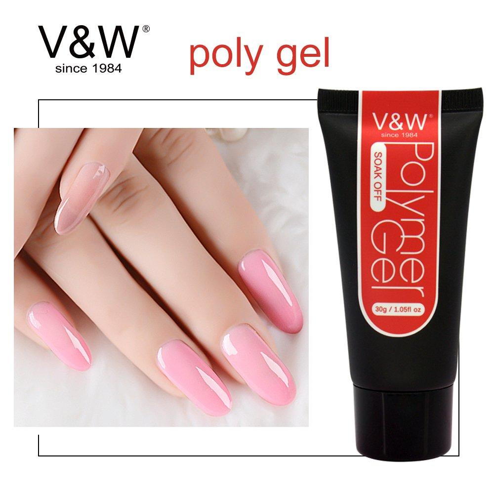 Soak Off 30ml Clear Nail UV Led POLY Gel Builder Gel Acrylic Polymer Gel