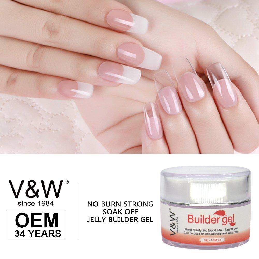 No Burn Strong Soak Off Jelly Builder Gel Extend Uv/Led Nail Gel Polish