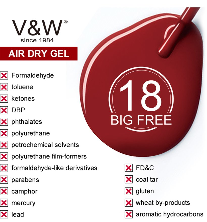 VW professional gel polish nail art wholesale for evening party-4