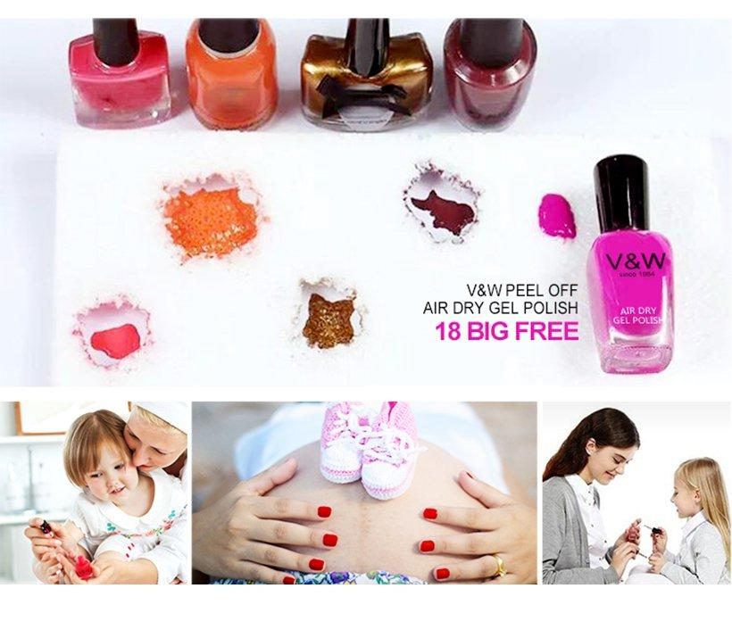 VW soften hot pink nail polish wholesale for evening party