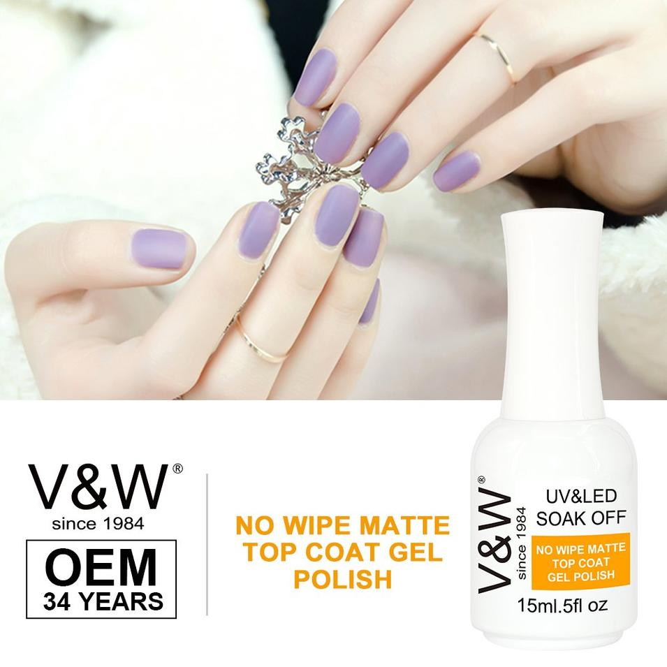 No Wipe  Matte Top Coat Gel Polish