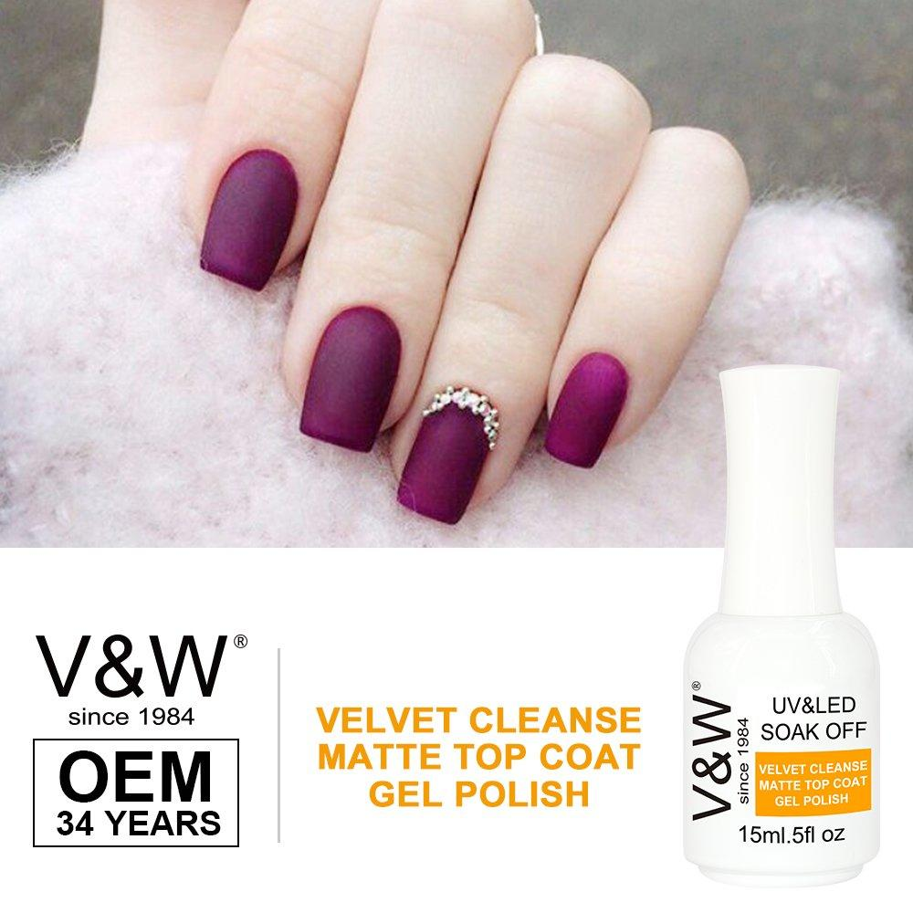 Velvet Cleanse Matte Top Coat Uv Led Gel Polish For Nail Art Designs