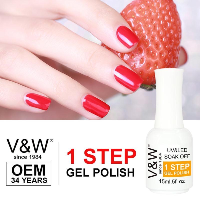 One Step Gel Nail Polish No Base No Top Coat Gel Polish