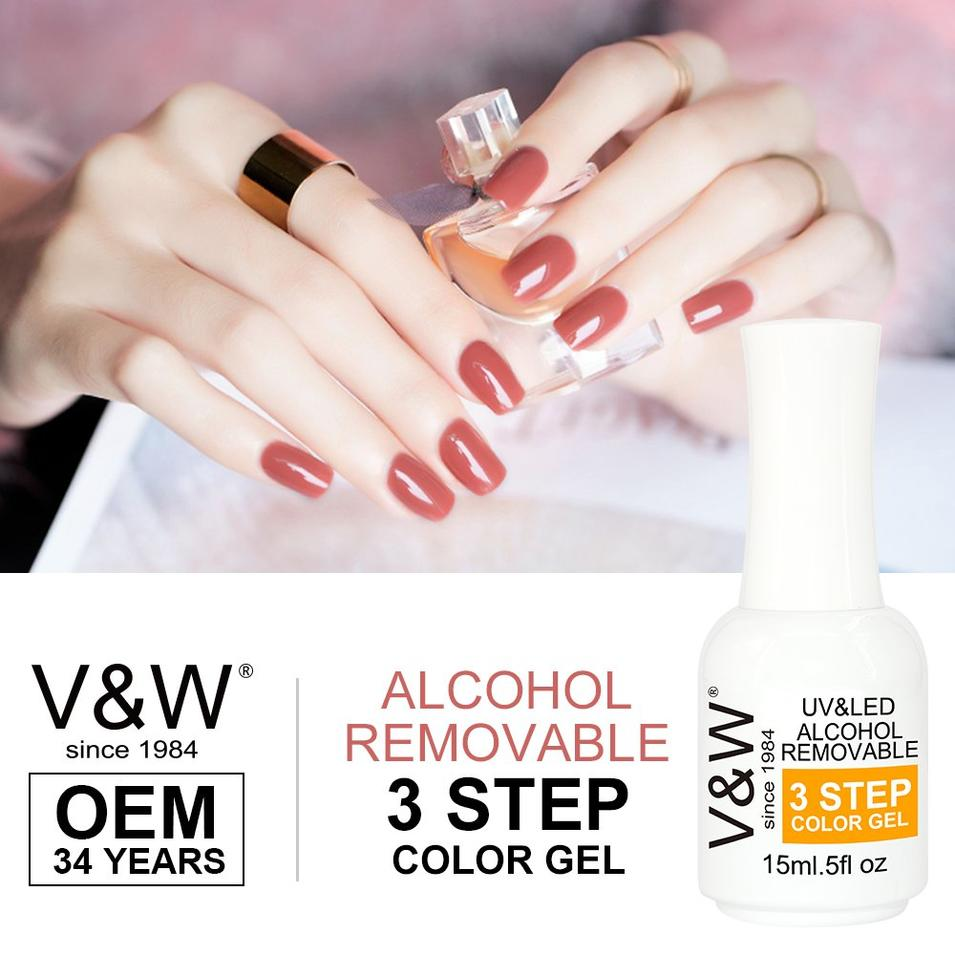 Alcohol Removable UV Gel Nail Polish 15 ml Soak off Nail three Gel Polish 1000 Colors