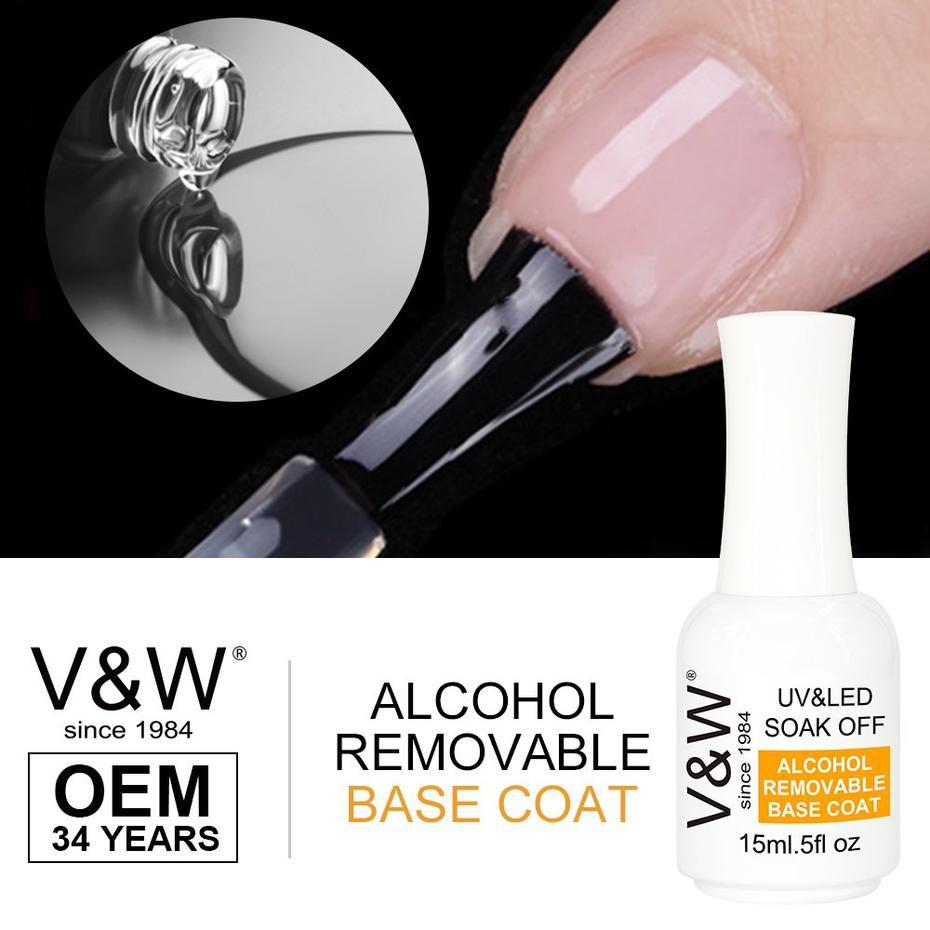 solar nail powder colors Alcohol Removable Soak Off Uv Led Base Coat Nail Gel Polish For Natural Nails information