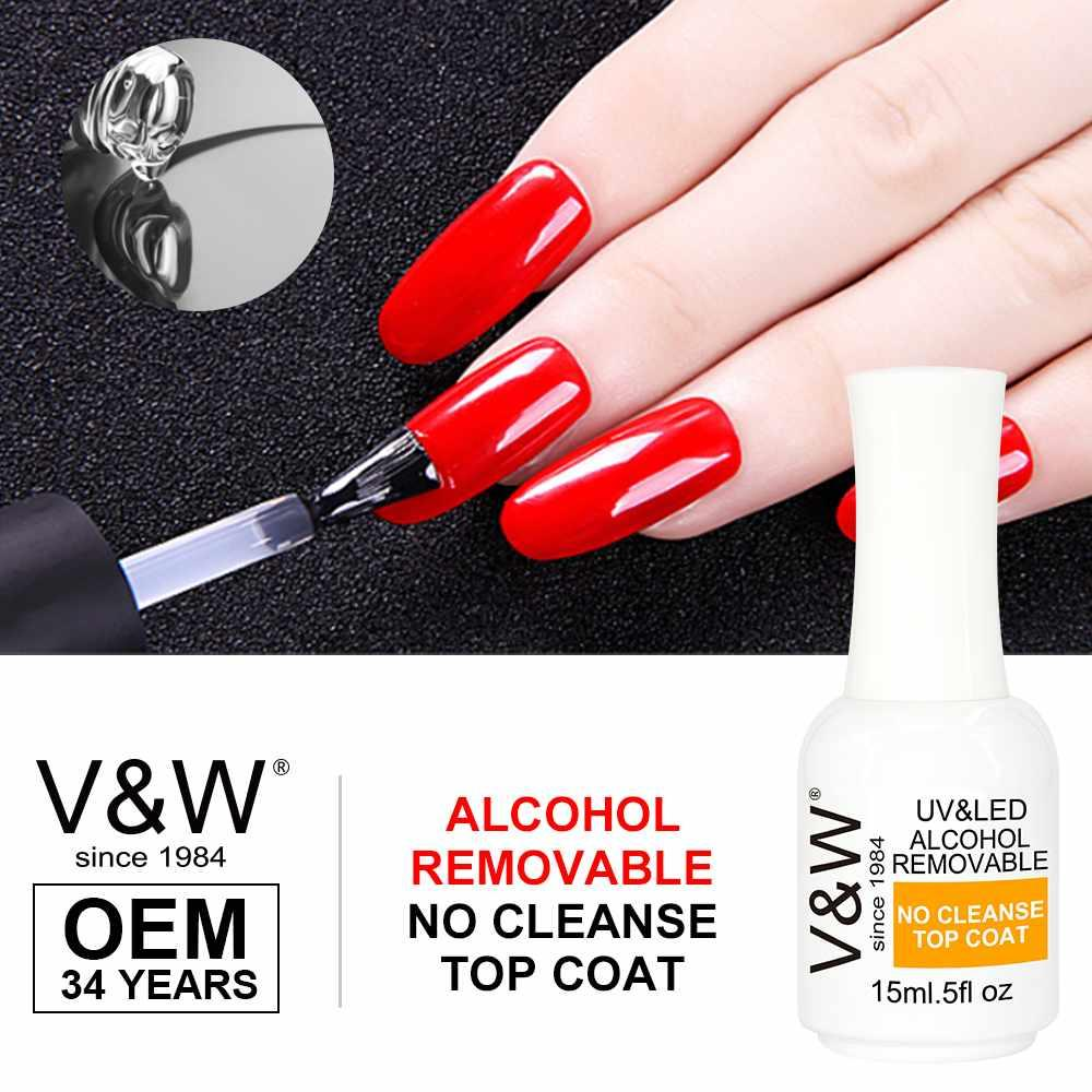 Alcohol Removable No Cleanse Soak Off Top Coat Gel