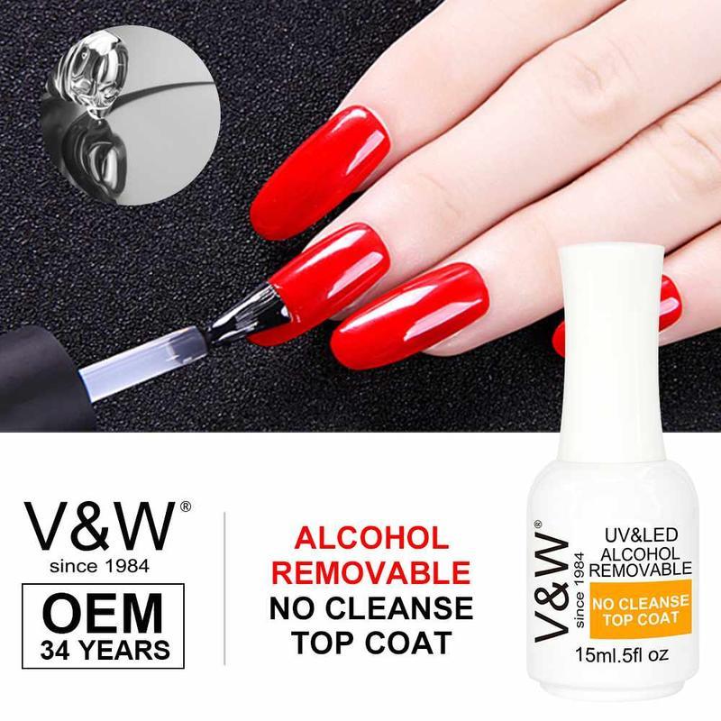 Alcohol Removable No Cleanse Soak Off Top Coat Gel