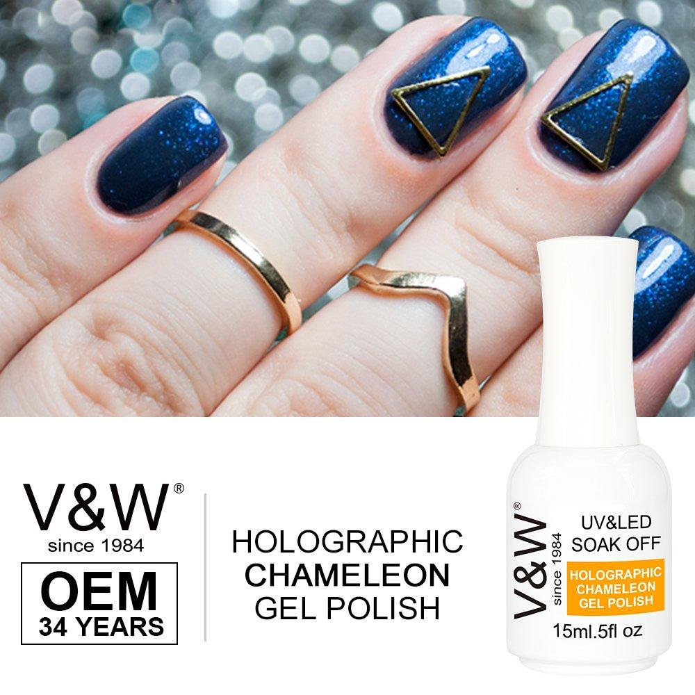 Soak Off UV LED 15ml Holo Holographic Chameleon Color Gel Nail Polish