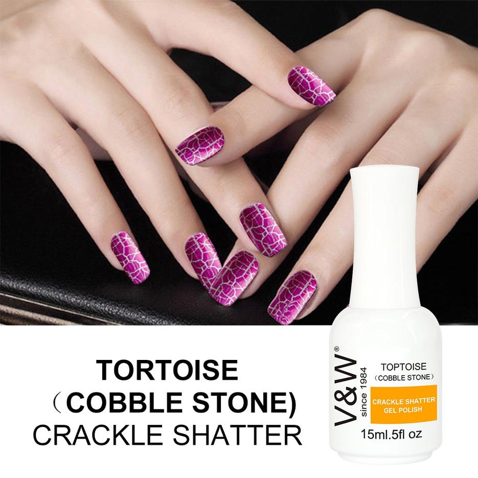 Marble Texture Effect Nail Art Polish Gel Crackle Shatter UV Gel Nail Polish