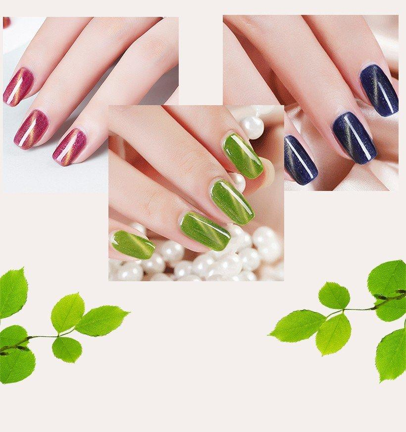 VW glitter uv gel set nails eco friendly for daily life
