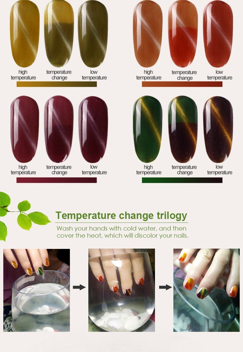 VW odorless wholesale clear nail polish mood changing for daily life-4