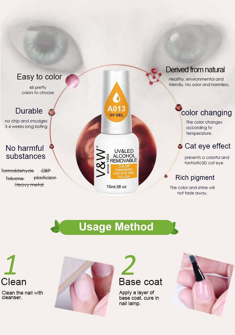 VW odorless wholesale clear nail polish mood changing for daily life-5