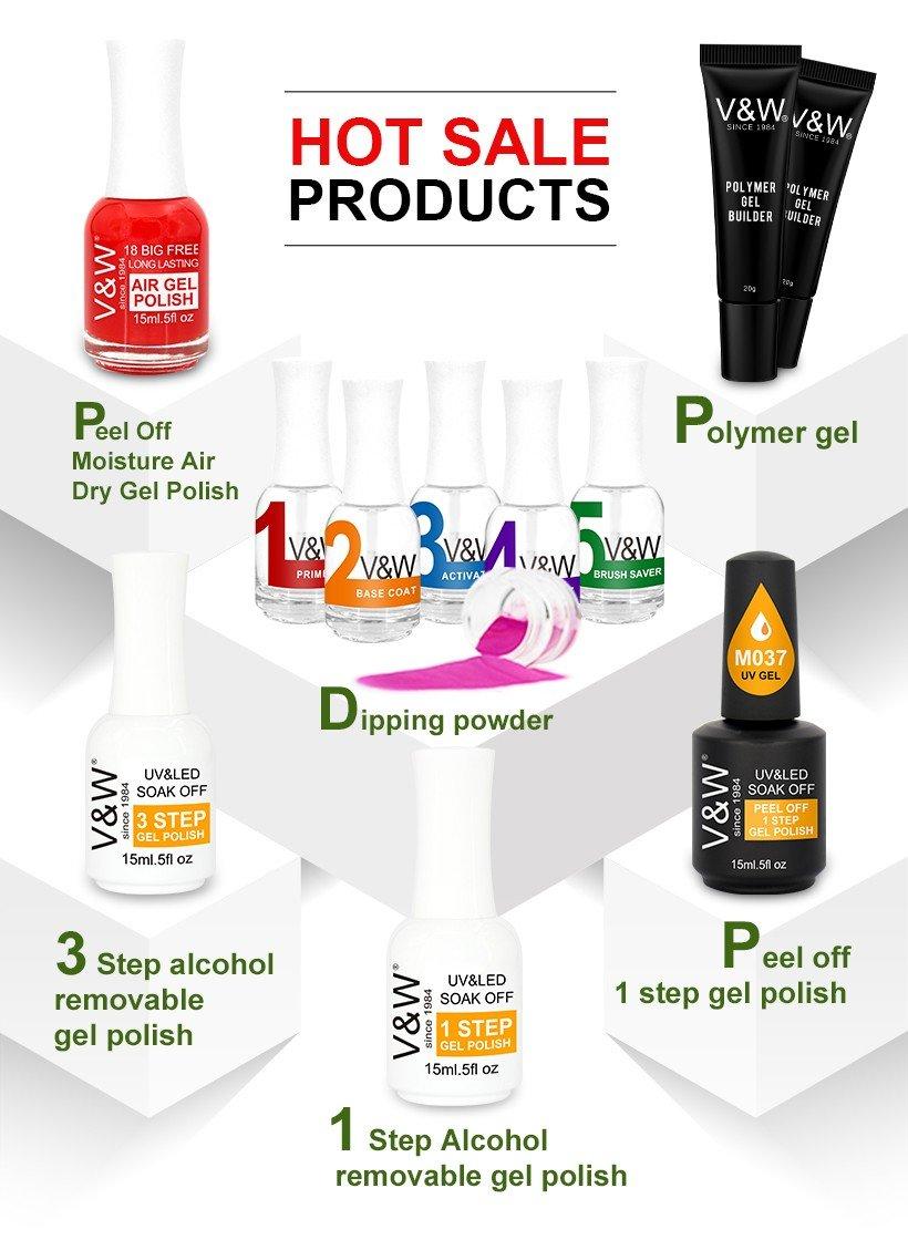 VW odorless color uv gel nails manufacturer for party-1
