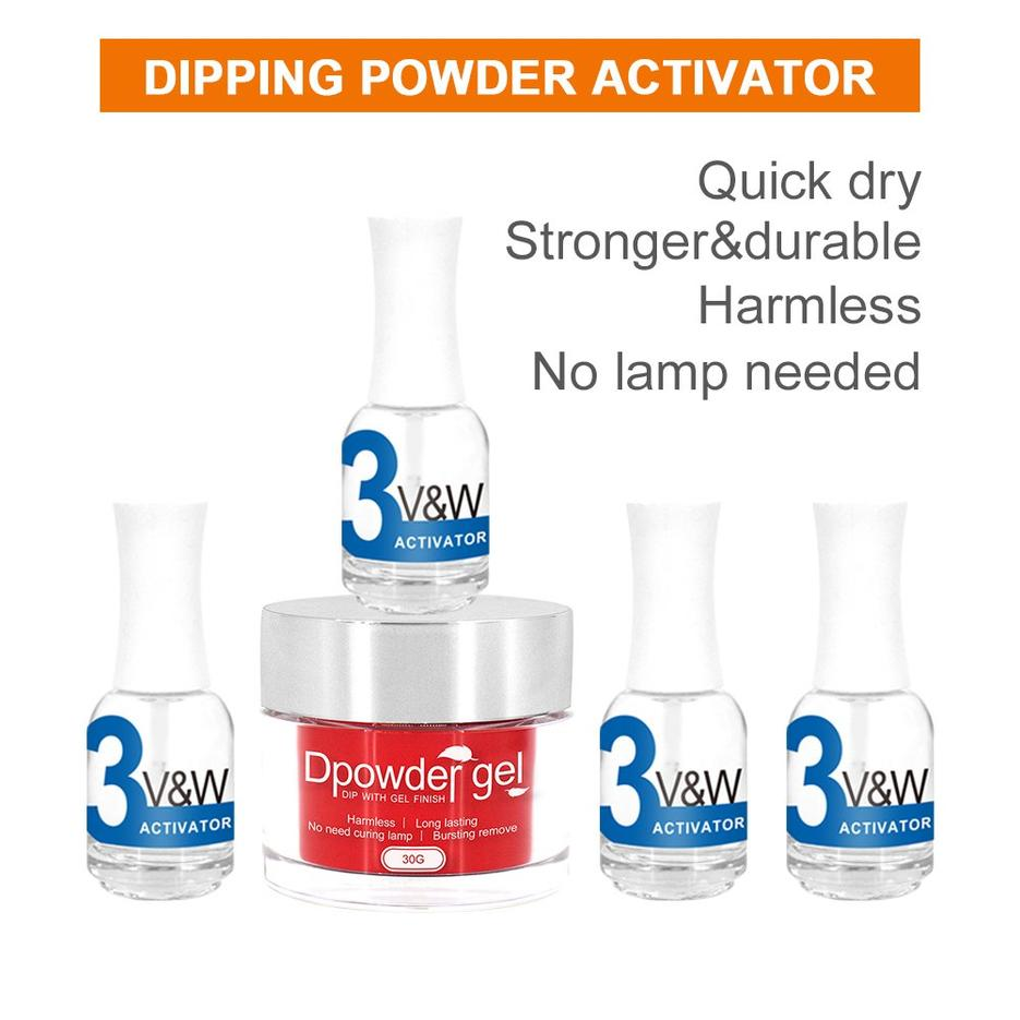 Dipping powder activator