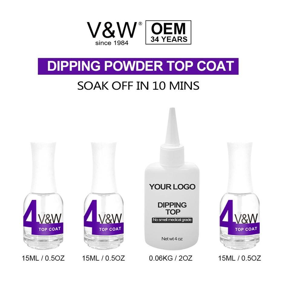 Dipping powder top coat