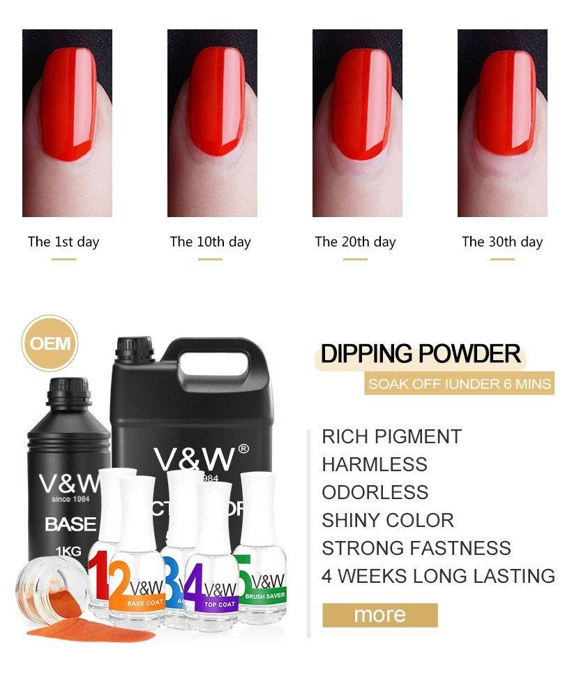 VW powder dry powder nail polish easy remove for party