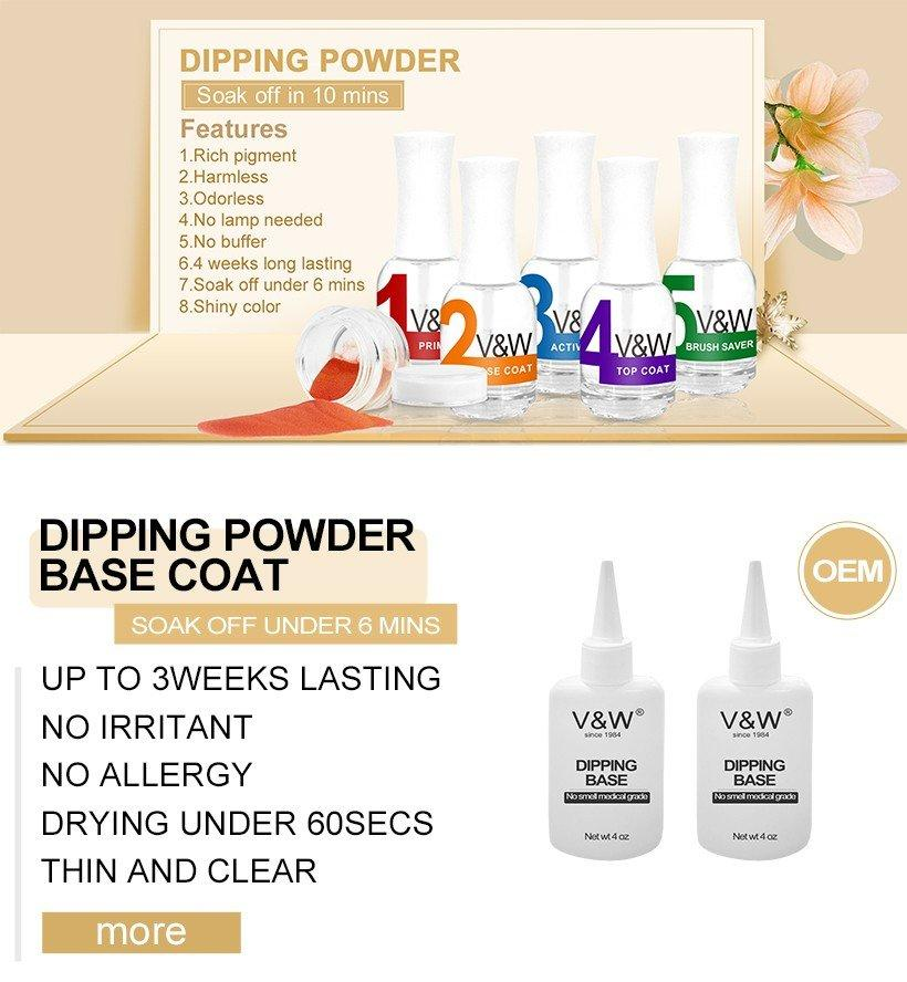 VW 2in1 natural dip powder nails easy remove for office