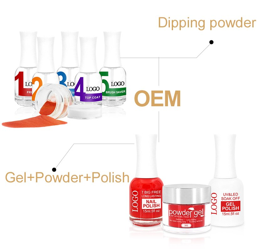 3 in 1 Color Matching Dip Powder System Art Nail Polish and Gel Polish-14