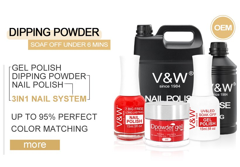 VW color acrylic nail powder easy remove for wedding-19
