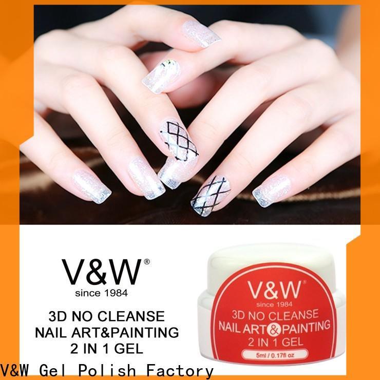 VW extend color uv gel nails varnish for party