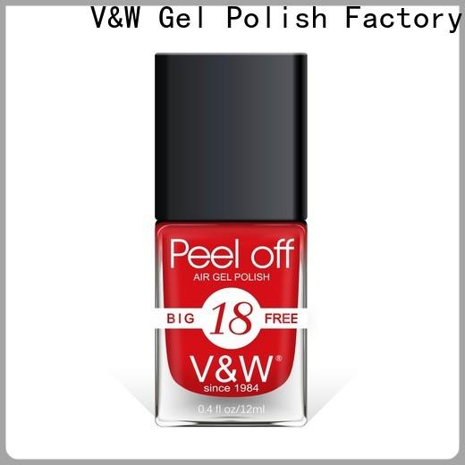 VW fast soak off gel nail polish esay remove for evening party