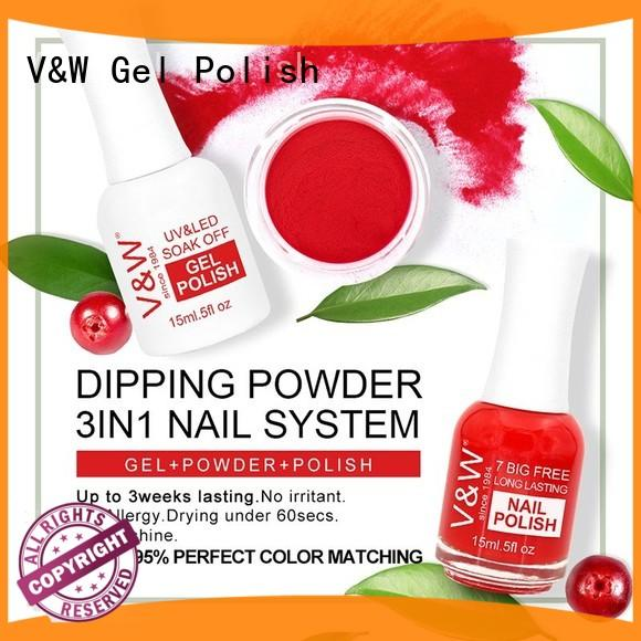VW quick dry top collection color organic dipping powder soak off for dinner
