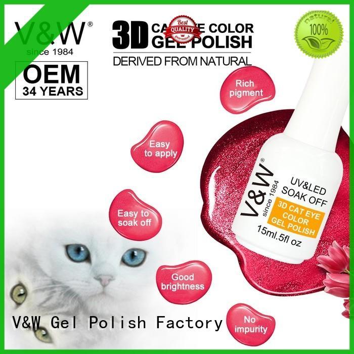 effect fabric chrome VW Brand Gel Polish Wholesale